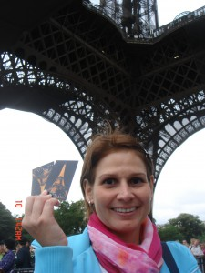 Maria is happy for the tickets to go up on the Eiffel Tower